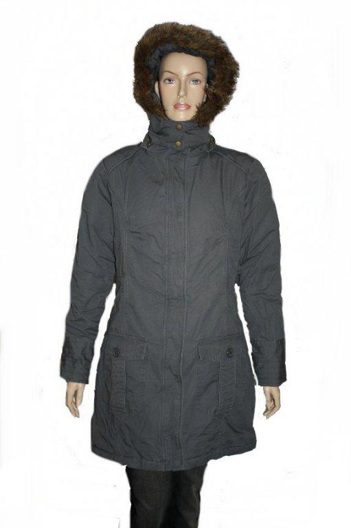 ichi i miza damen mantel jacke kapuze grau gr l neu. Black Bedroom Furniture Sets. Home Design Ideas